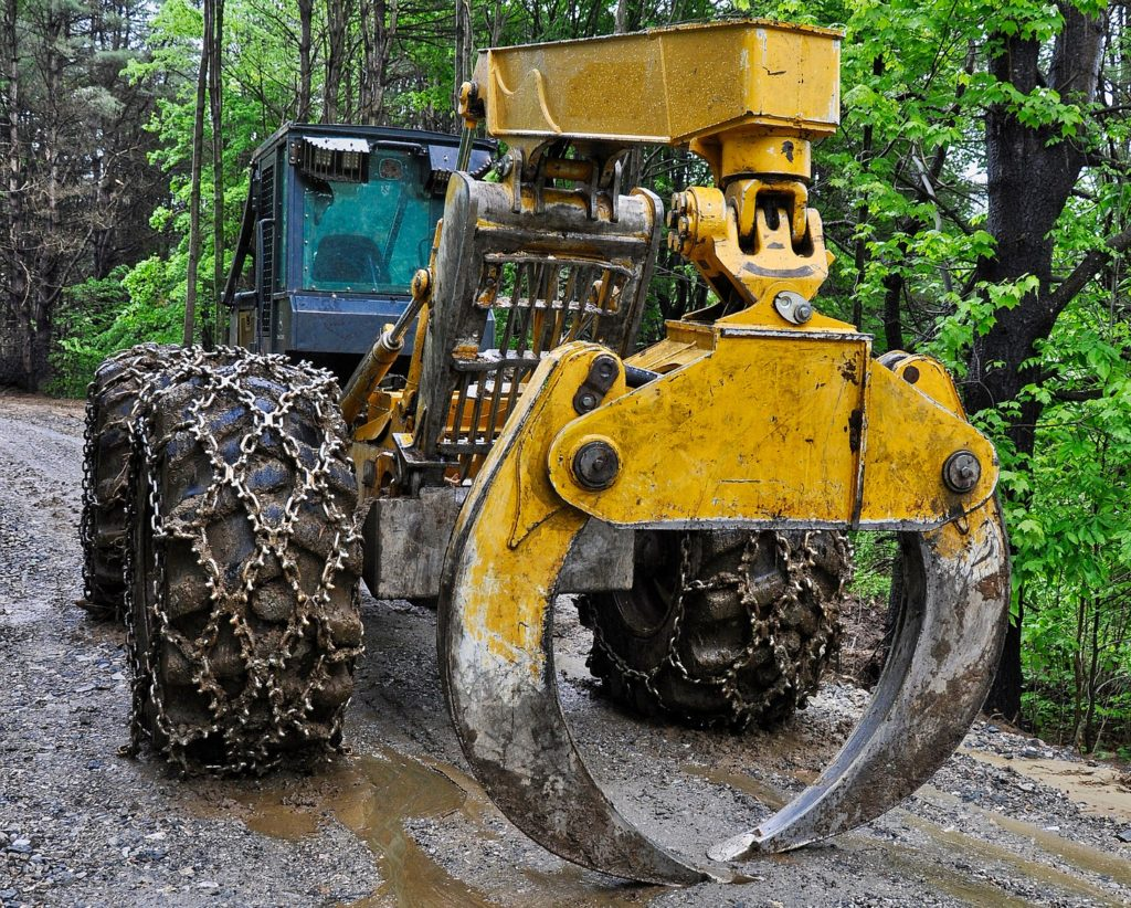 Log Mover On A Forest Road
